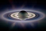 Saturn Silhouetted, Cassini Image Fotografie-Druck
