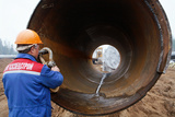 North European Gas Pipeline Construction Prints by Ria Novosti