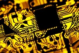 Printed Circuit Board, Artwork Photographic Print by  PASIEKA