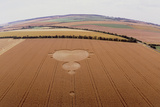 Crop Formation In Form of Mandelbrot Set Prints by David Parker