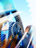 Mechanical Gears Premium Photographic Print by  PASIEKA