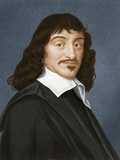 Rene Descartes, French Philosopher Prints by Maria Platt-Evans