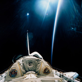 Spacelab SLS-1 View with Light Reflections Photographic Print by  NASA