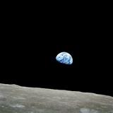 Erdkugel über dem Mond, Apollo 8 Fotodruck von  NASA