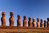 Easter Island Statues Photographic Print by David Nunuk