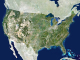 USA, Satellite Image Poster by  PLANETOBSERVER