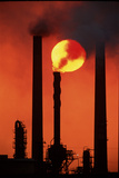 Oil Refinery Photographic Print by David Nunuk
