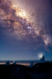 Kitt Peak Observatory And Milky Way Photographic Print by David Nunuk