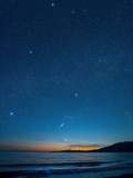 Orion Over the Georgia Strait, Canada Photographic Print by David Nunuk