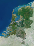 The Netherlands, Satellite Image Prints by  PLANETOBSERVER