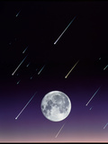 Meteors And Full Moon Prints by David Nunuk