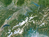 Switzerland, Satellite Image Photographic Print by  PLANETOBSERVER