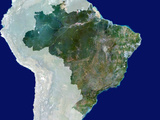 Brazil, Satellite Image Photographic Print by  PLANETOBSERVER