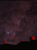 Composite Image of Halley's Comet & Mauna Kea Print by Magrath Photography