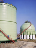Oil Refinery Storage Tanks Posters by Paul Rapson