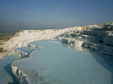 Mineral Terrace At the Pamukkale Hot Springs Posters by David Parker