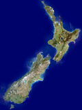 New Zealand, Satellite Image Premium Photographic Print by  PLANETOBSERVER