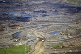 Opencast Mine, Athabasca Oil Sands Photographic Print by David Nunuk
