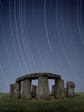 Star Trails Over Stonehenge Premium Photographic Print by David Parker