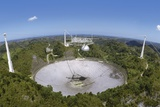 Upgraded Arecibo Radio Telescope with Subreflector Poster by David Parker