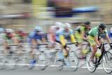 Cyclists In a Race Fotografisk tryk af Ria Novosti