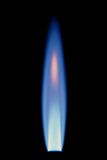 Propane Gas Flame From a Bunsen Burner Prints by David Parker
