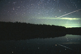 Meteor Over Lake Poster by Pekka Parviainen