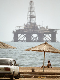 Caspian Sea Oil Rig Photographic Print by Ria Novosti