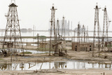 Caspian Sea Oil Rigs Prints by Ria Novosti