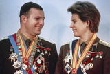 Yuri Gagarin And Valentina Tereshkova Photographic Print by Ria Novosti