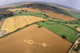 Crop Formation, Near East Kennett, Wiltshire Photographic Print by David Parker
