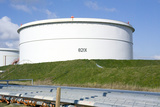 Oil Refinery Storage Tank Photographic Print by Paul Rapson