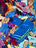 Polarised LM of a Thin Section of Gabbro Rock Photographic Print by  PASIEKA