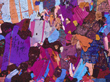 Gabbro Rock, Polarised Light Micrograph Photographic Print by  PASIEKA