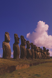 Easter Island Statues Prints by David Nunuk