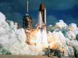 Space Shuttle Launch Photographic Print