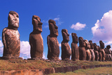 Easter Island Statues Posters by David Nunuk