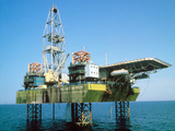 Off-shore Oil Rig Photographic Print by Ria Novosti