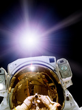 Astronaut Self-portrait, Composite Image Photographic Print by  NASA