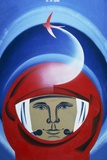 Soviet Poster Commemorating Gagarin Photographic Print by Ria Novosti