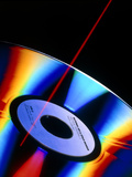 Laser Videodisc with Simulated Laser Beam Photographic Print by David Parker