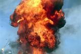 Pillar of Fire Due To Explosion Print by David Nunuk