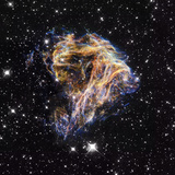 Supernova Remnant LMC N 49 Photographic Print by  NASA
