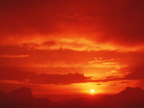 Sunset with Clouds Photographic Print by David Nunuk