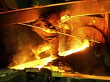 Metalworks Foundry Worker Photographic Print by Ria Novosti