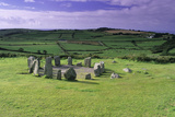 Drombeg Stone Circle Print by David Nunuk