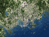 Helsinki, Satellite Image Photographic Print by  PLANETOBSERVER
