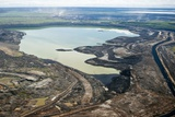 Settling Pond, Athabasca Oil Sands Photographic Print by David Nunuk