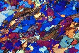Gneiss, Thin Section, Polarised LM Prints by  PASIEKA
