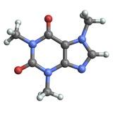 Caffeine Molecule Fotografisk tryk af PASIEKA